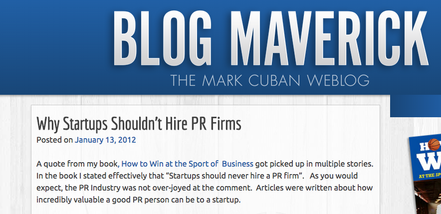 how to pitch press - mark cuban says don't use PR firms