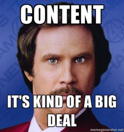 content meme for email pitch
