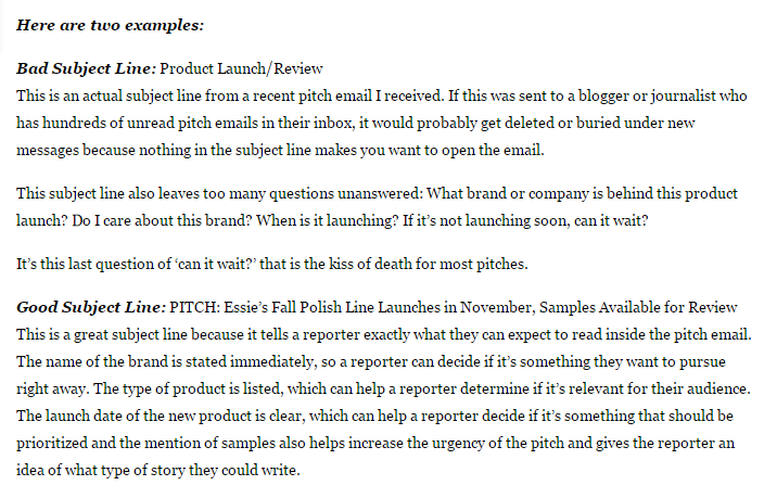 40 Best Cold Email Pitch Tips To Get Press With Examples