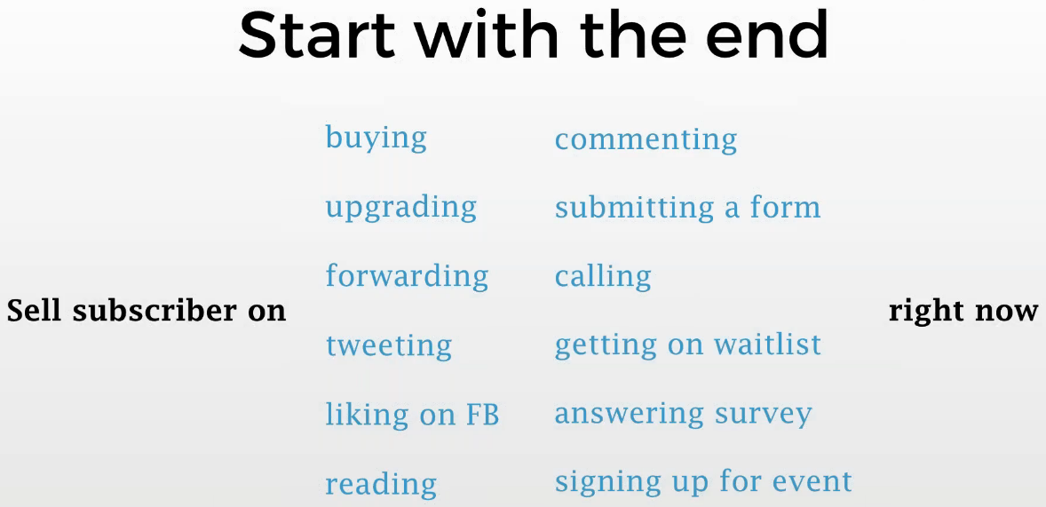 Start by creating the CTA for your sales email