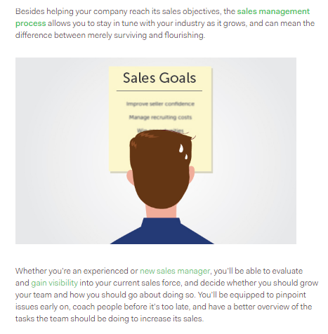 sales goals example of how to rank higher on google