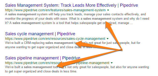 sales management example of how to rank higher on google