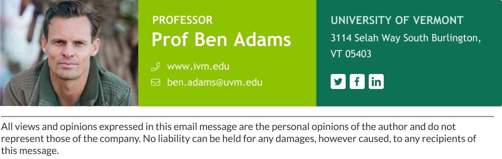 professor email signature